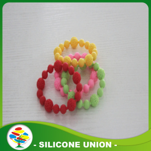 Diseño Simple multicolor silicona pulsera moldeada
