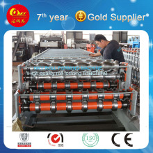 Máquina formadora de rolos para telhados de aço de camada dupla