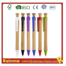 Caneta esferográfica de bambu para artigos de papelaria Eco