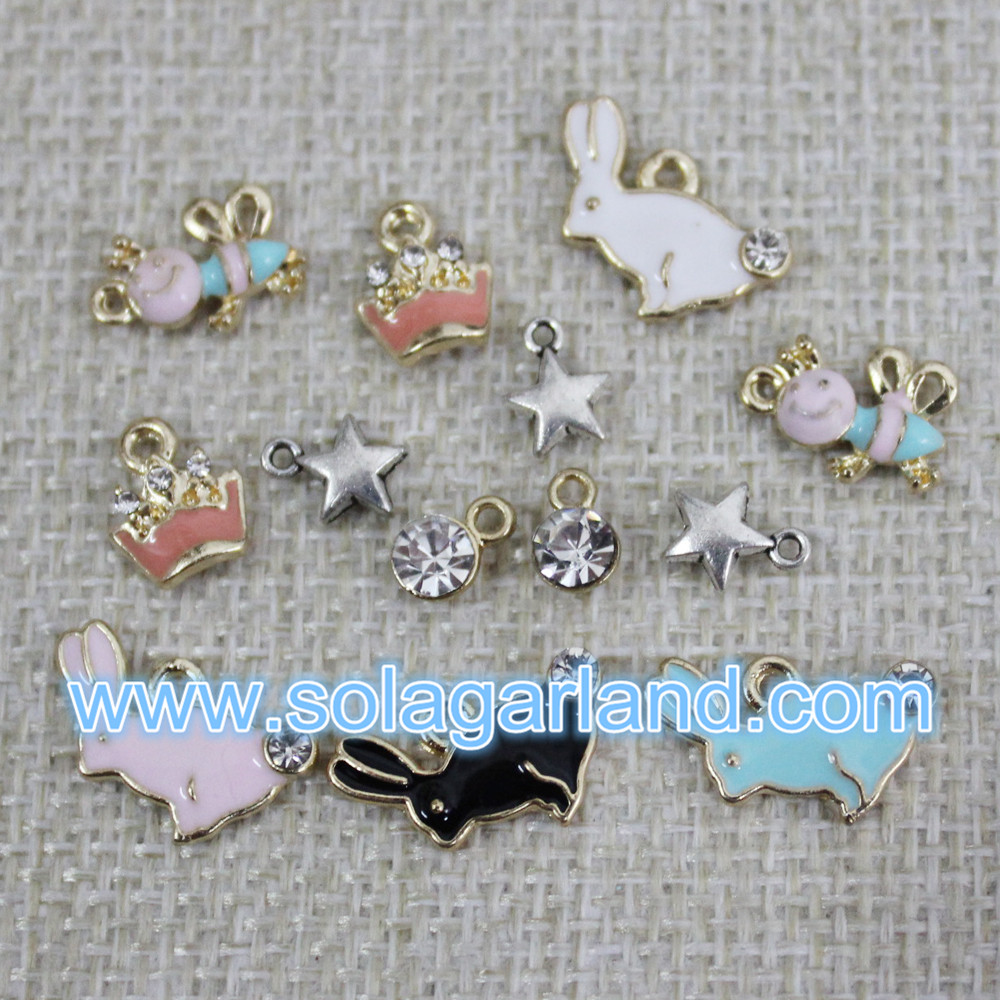 Mini Rhinestone Charms Pendants