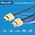 Cabo HDMI V1.4 ultra-fino, suporte 4k, 3D
