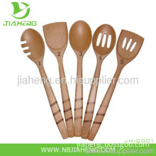 4 Hand Carved Extra Large Wooden Spoons Country Decor