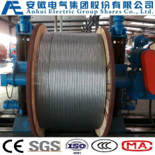 19no. 9AWG, Concentric-Lay-Stranded Aluminum-Clad Steel Conductors, as Wire