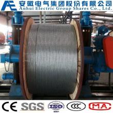 19no. 9AWG, condutores de aço concêntrico-Lay-encalhado de alumínio-revestidos, como o fio