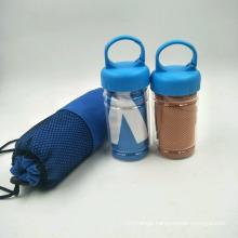 Custom logo printing wholesale microfiber towel keep body cooling