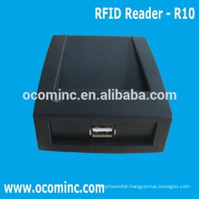 OCOM-R10 RFID Card Reader USB Plug and Play for 125KHZ/13.56MHZ
