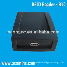 OCOM-R10 RFID Card Reader USB Plug and Play for 125KHZ/13.56MHZ