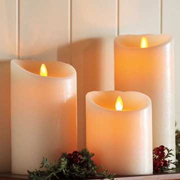 Luminara Wax Pillar Candle