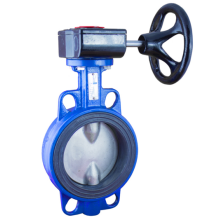 cast iron double flange butterfly valve