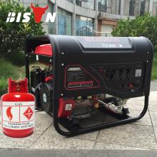 BISON CHINA Uso doméstico 50HZ / 60HZ eléctrico Gas natural Generador de energía 6kva