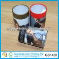 Round rigid paper clear plastic lid gift box