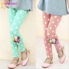 Fabrik Großhandelspreis Mädchen Mode Applizierte Spotted Kinder Hosen