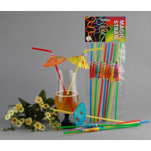 Party Decoration Series Plastic Drinking Straw, Crazy Straw, Cartoon Straw