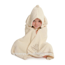 100% microfiber super soft absorbent kids hooded towels