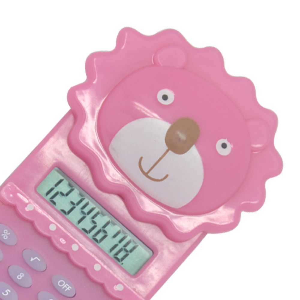 Cute Cartoon Lion Shape Pocket Calculator