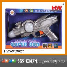 Novo 43CM plástico elétrico Kid Espaço Gun Toy