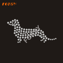 Crystal Dog Motif Iron on Rhinestone Transfer