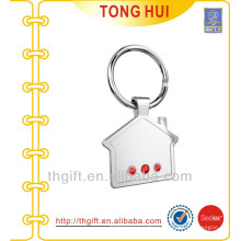 Building shape keychain metal