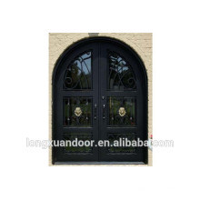 Puerta de hierro forjado, puerta de hierro forjado, puerta de entrada de hierro forjado