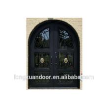 Porte en fer forgé, rayon de décoration Porte en fer forgé, porte d'entrée en fer forgé