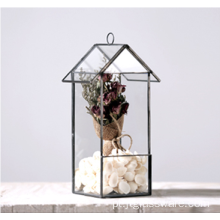 Hot Selling Plant Rose Gold Glass Terrarium Geometric
