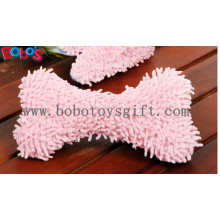 100%Polyester Material Soft Plush Pink Bone Toy with Squeaker BOSW1076/22CM