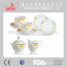 Porcelaine chinoise en céramique théière théière tasse de soucoupe tasse en chrome