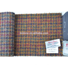 many colors blend 100% wool harris tweed fabric for making bags