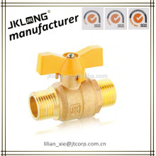 lead free brass gas ball valve male connection