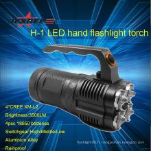 Cree led power style lampe de poche lampe de poche lumen police cree led lampe torche 3500lm cree
