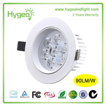 High Power 7W Led Ceiling Light Dissipate heat LED Downlight Background the wall lamp 3years warranty AC 85-265V