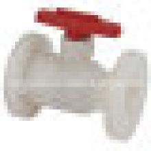 Válvula de bola de brida FRPP / Válvula de bola de plástico