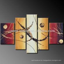 5 paneles abstractos lienzo pinturas