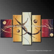 5 Panels Abstract Canvas Paintings