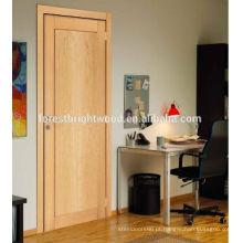 Pele moderna da porta do folheado de madeira do abanador / porta do folheado da natureza