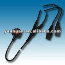 Power Y cable Ac lead spliiter plug