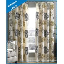 Cortina de ventana del poliéster de la impresión floral del patrón de la decoración casera