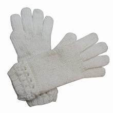 Las señoras hacen punto los guantes calientes del vestido del invierno de lana hechos punto (YKY5431)