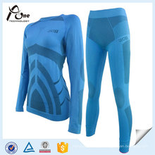 Esportes ao ar livre sem costura Long Johns aquecida roupa interior térmica para mulheres