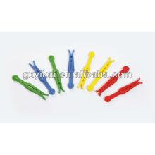 Top quatity pen pegs, conjunto de 24 pcs de plástico com coloridos,