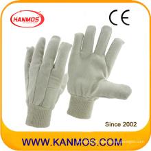 Branco segurança industrial luvas de algodão trabalho de trabalho (410013)