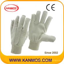 Guantes de trabajo de algodón de taladro de seguridad industrial (410013)