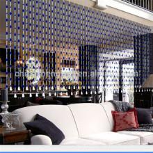 Décoration intérieure salon rideau en plastique perlé