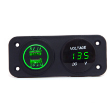 Hot! 12V Waterproof Car Socket & Voltmeter