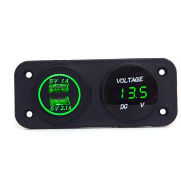 Hot! 12V Waterproof Car Socket & Voltmeter