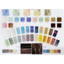 Tablero de tarjeta de referencia de color de mosaico de luz perlada