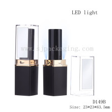 LED cosmetic packaging lighted lipstick tube with mirror