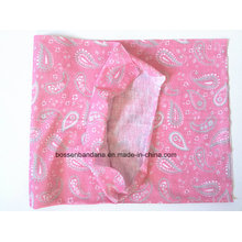 OEM Produce China Factory Pink Paisley Imprimé Multifunctional Headwear Echarpe