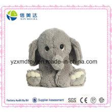 """9 """"Fördernde sitzende reizende graue Elefant-Plüsch-flaumiges Spielzeug"""