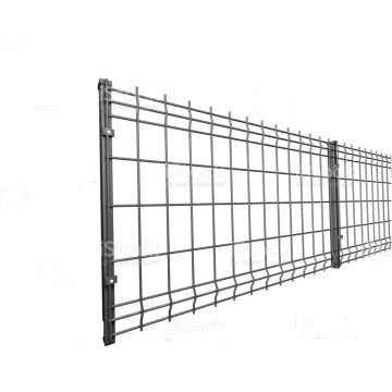 Wire Mesh Fence With Peach Posts